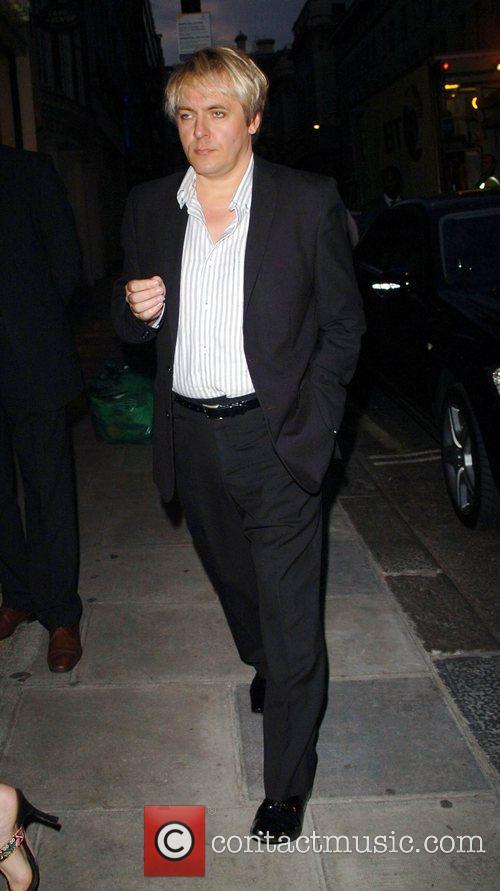 Nick Rhodes arriving at Nobu restaurant London, England