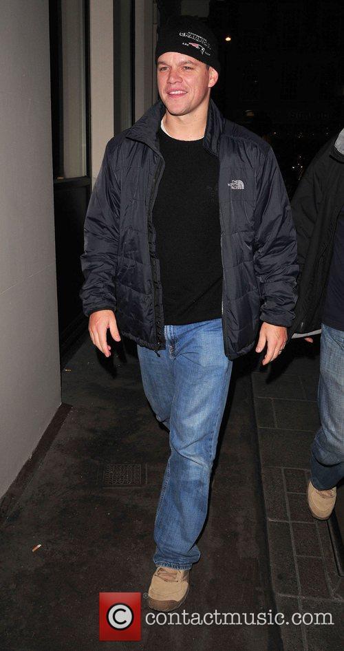 Matt Damon arriving at Nobu London, England