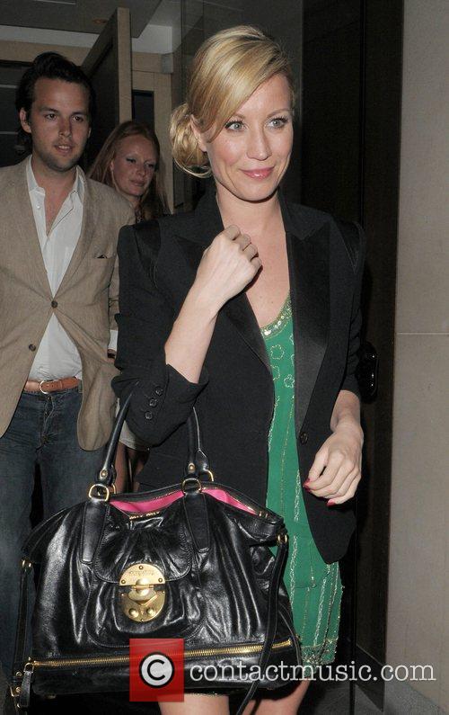 Denise van Outen leaving Nobu restaurant