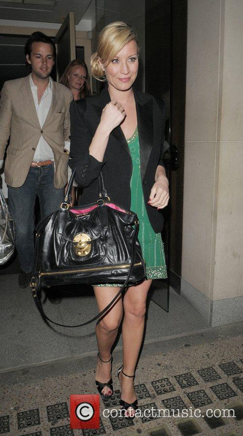 Denise van Outen leaving Nobu restaurant London, England