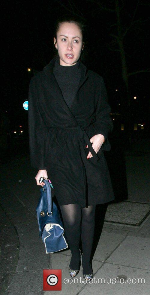 Camilla Al Fayed arriving at Nobu in Mayfair...