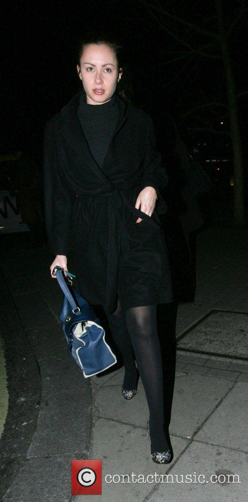 Camilla Al Fayed arriving at Nobu in Mayfair...