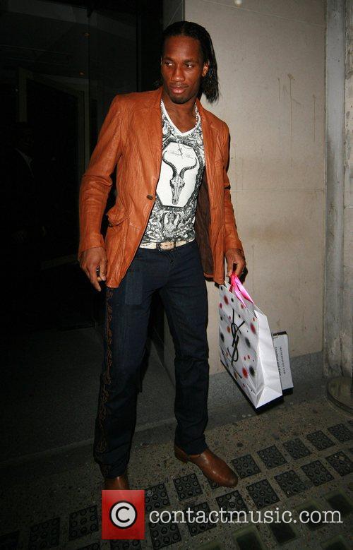 Didier Drogba leaving Nobu Berkeley Street restaurant London,...