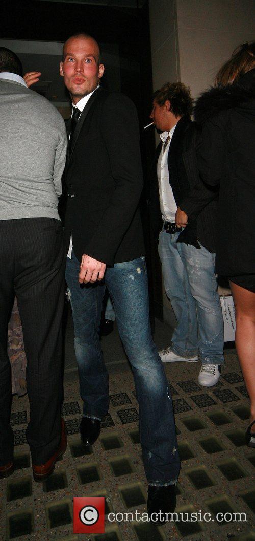Freddie Ljungberg leaving Nobu Berkeley Street restaurant London,...