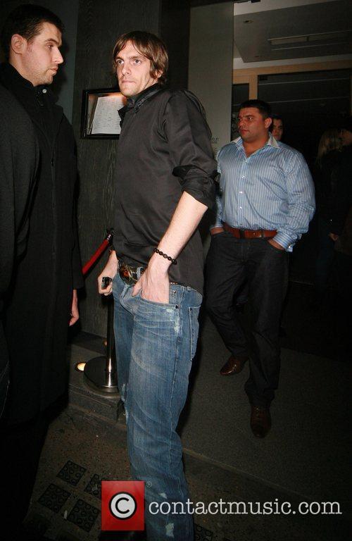 Jonathan Woodgate leaving Nobu Berkeley Street restaurant London,...