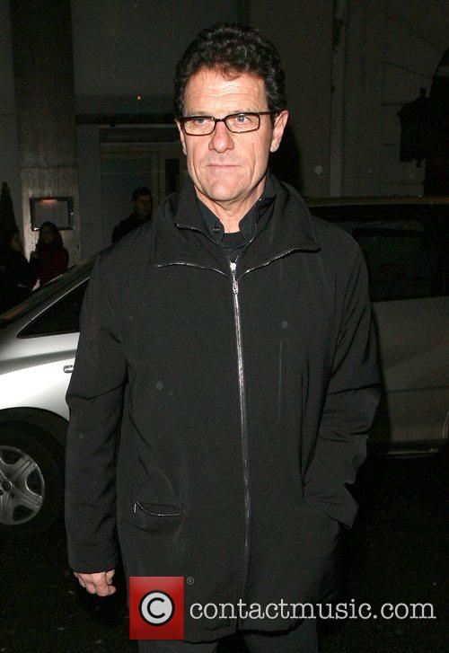 England football manager Fabio Capello leaving Nobu Berkeley...