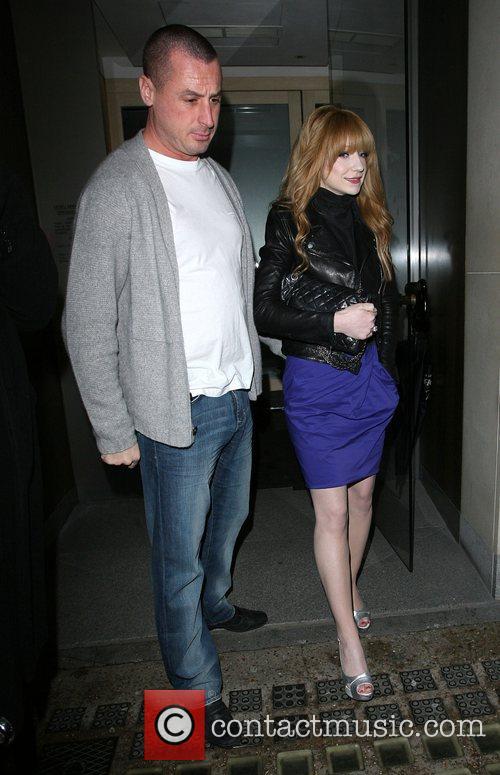Nicola Roberts and her boyfriend Carl Davies drive...