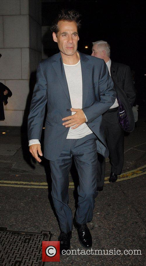 Adrian Pasdar leaving Nobu restaurant London, England