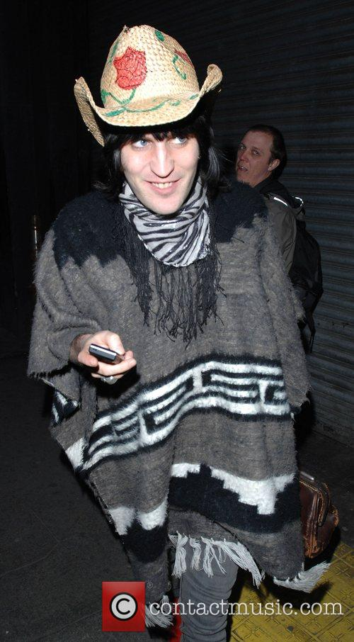 Noel Fielding out and about in Soho, after...