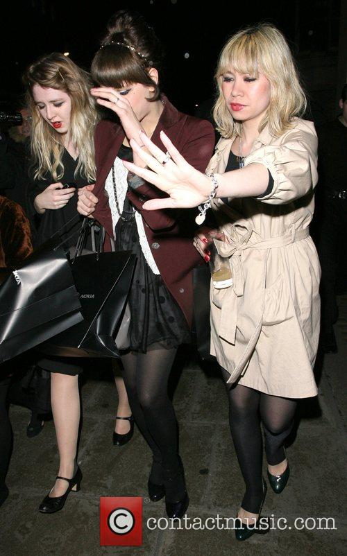 Peaches Geldof leaves the Nokia Launch party London,...