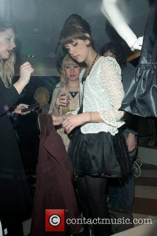 Peaches Geldof leaving Launch of the Nokia 8800...