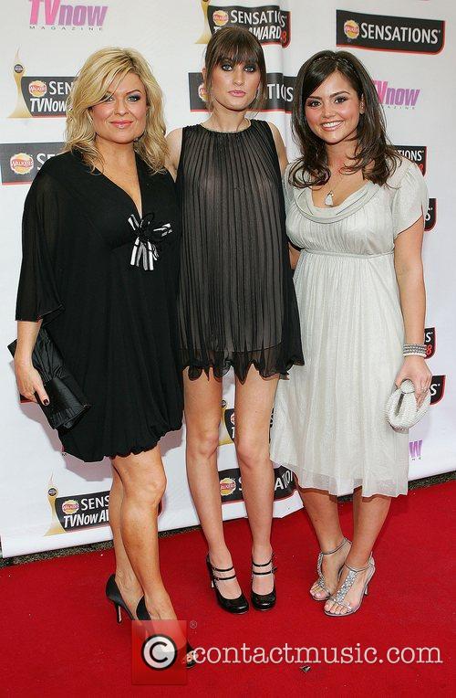 Emily Symons, Charley Webb and Jasmine Thomas TV...