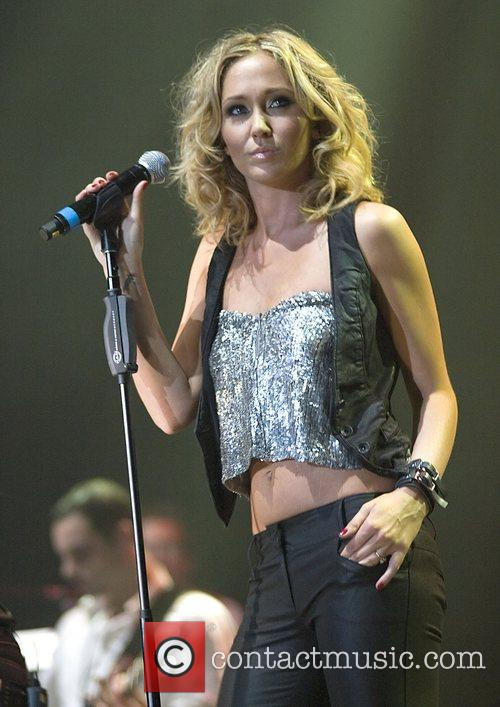Jenny Frost of Atomic Kitten performing at the...