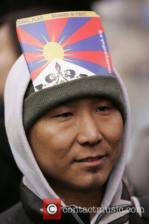 Free Tibet Protest At The Beijing 2008 Olympic Games Torch Relay 8