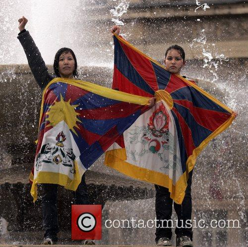 Free Tibet Protest At The Beijing 2008 Olympic Games Torch Relay 2