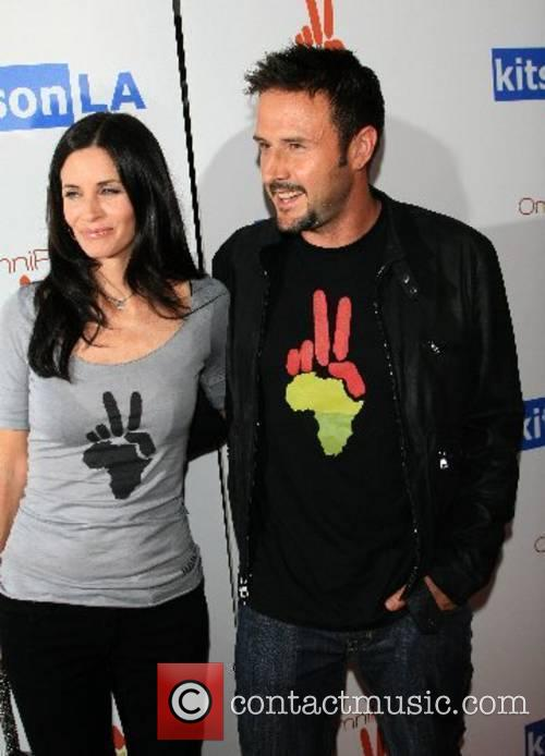 Courteney Cox Arquette and David Arquette Omnipeace event,...