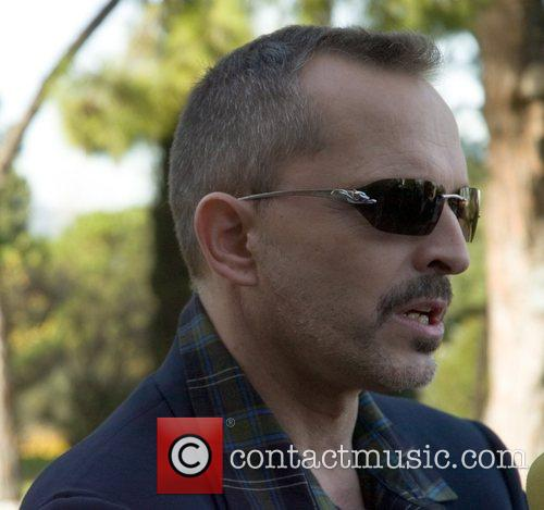 Miguel Bose at a lunch meet and greet...
