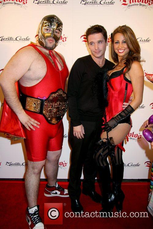 Kevin Connolly with models Diablo's Cantina Grand Opening...