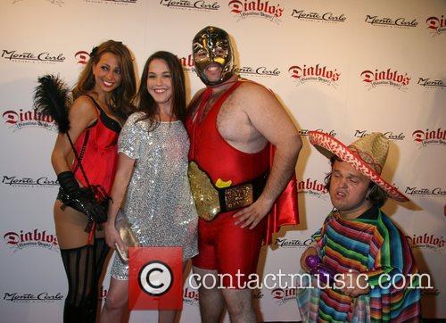 Martha MacIssac with models Diablo's Cantina Grand Opening...