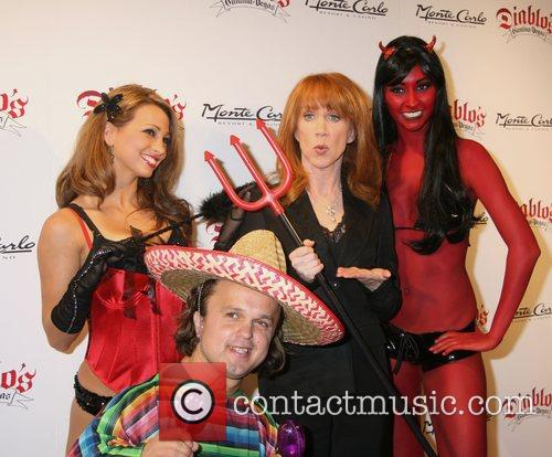 Kathy Griffin and models Diablo's Cantina Grand Opening...