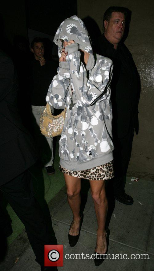 Paris Hilton leaving Opera nightclub after the launch...