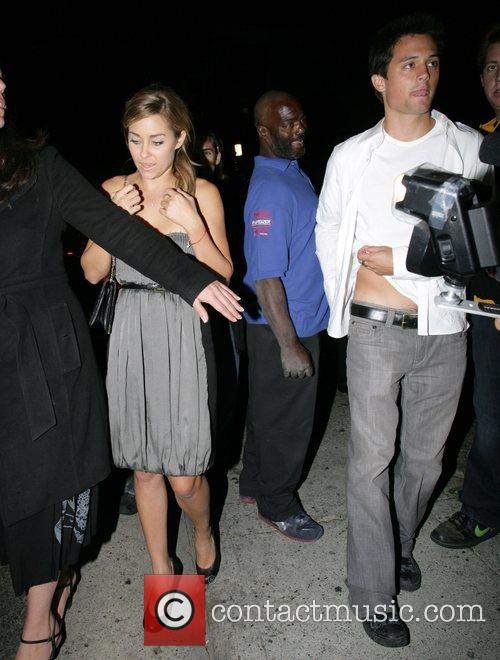 Lauren Conrad and Stephen Colletti leaving Opera nightclub...