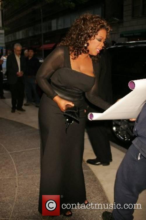 Oprah Winfrey leaving her hotel New York City,...