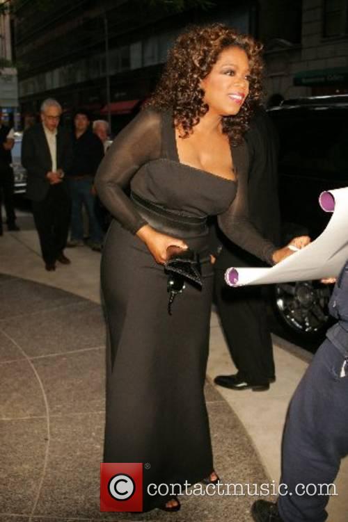 Oprah Winfrey leaving her hotel
