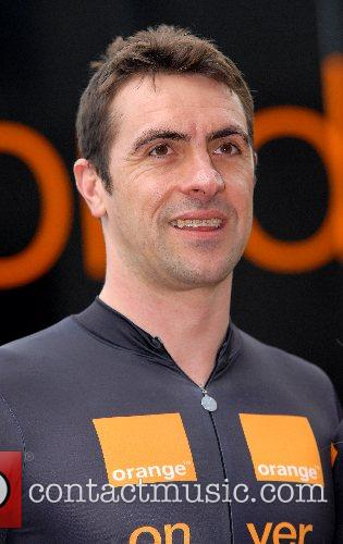 Jason Queally at a Photocall for Orange