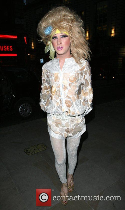 Jodie Harsh arrives at the launch party for...