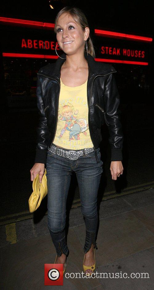 Nikki Grahame arrives at the launch party for...