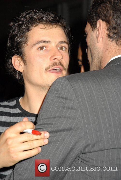 Orlando Bloom leaving the Duke of York Theatre