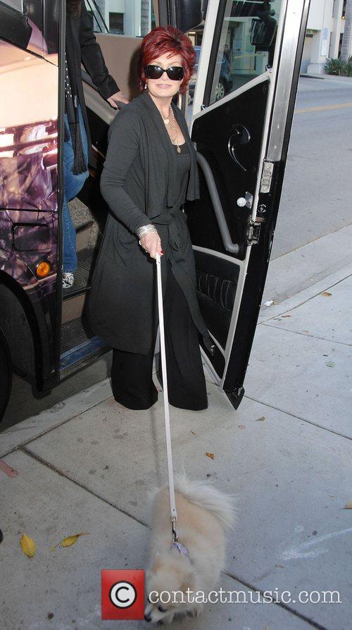 Sharon Osbourne with her dog Minnie Pre-Sale Exhibition...