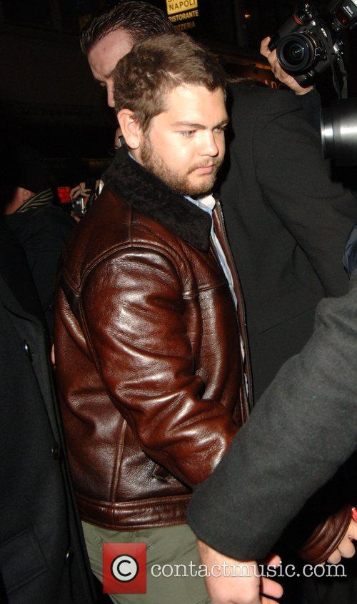 Arriving at Maya nightclub for his sister Kelly...