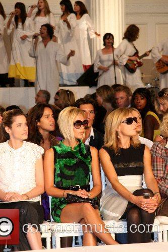 Amanda Peet and Victoria Beckham Mercedes-Benz Fashion Week...