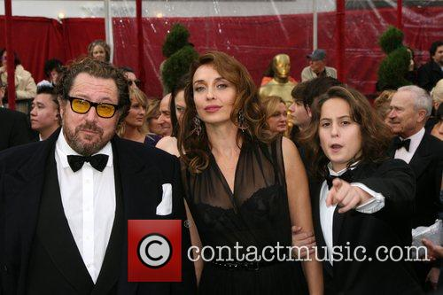 Julian Schnabel, Olatz Lopez Garmendia and Olmo Schnabel