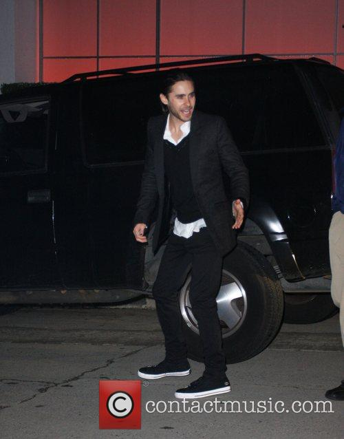 Jared Leto leaving a pre Oscar party...