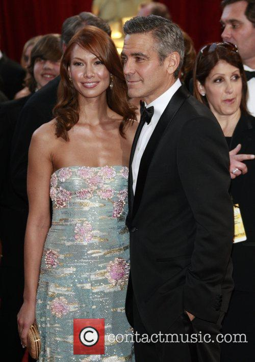 Sarah Larson and George Clooney The 80th Annual...