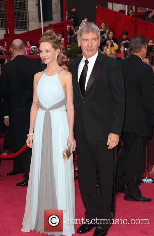 Calista Flockhart and Harrsion Ford The 80th Annual...