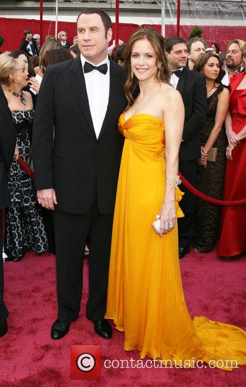 John Travolta and Kelly Preston The 80th Annual...