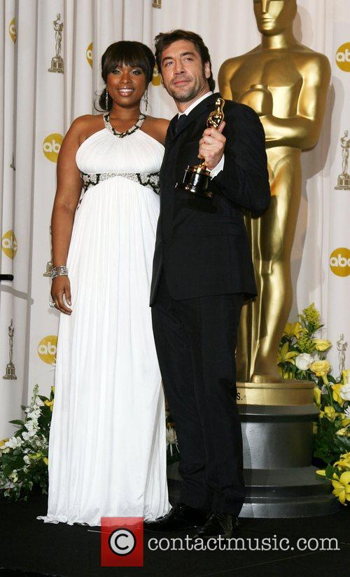 Jennifer Hudson and Javier Bardem The 80th Annual...