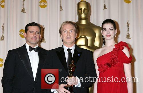 Steve Carrell, Brad Bird and Anne Hathaway 3