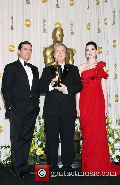 Steve Carrell, Brad Bird and Anne Hathaway 2
