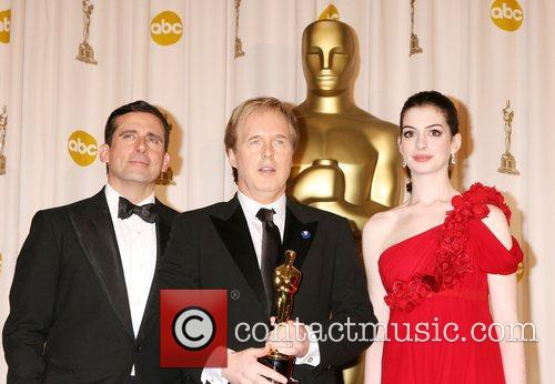 Steve Carrell, Brad Bird and Anne Hathaway 1