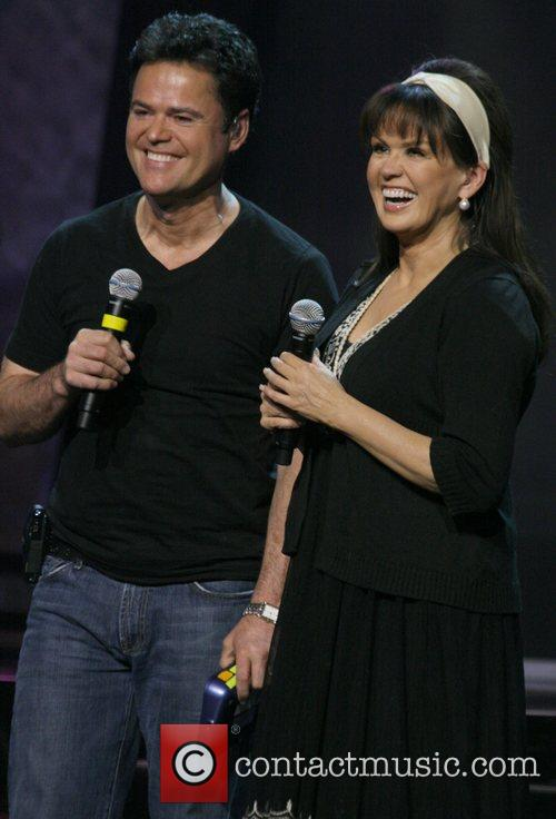 Donny Osmond, Marie Osmond The Osmonds performing on...