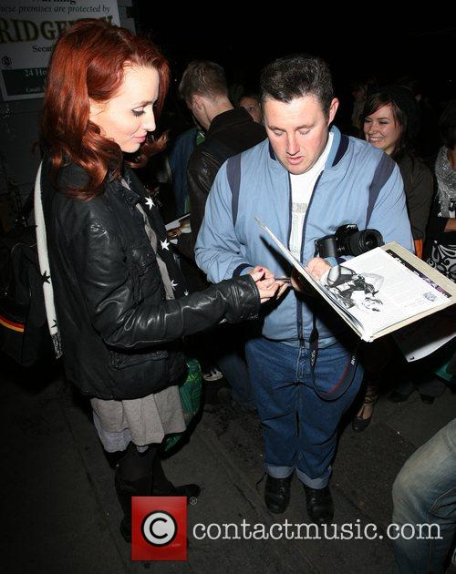 Siobhan Donaghy signs autographs, leaving the Duke of...