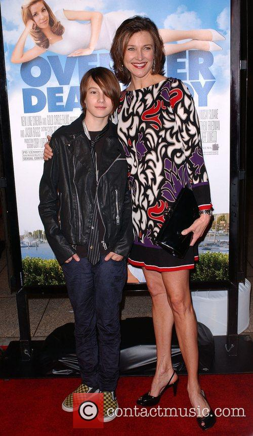 Brenda Strong and her son Los Angeles film...