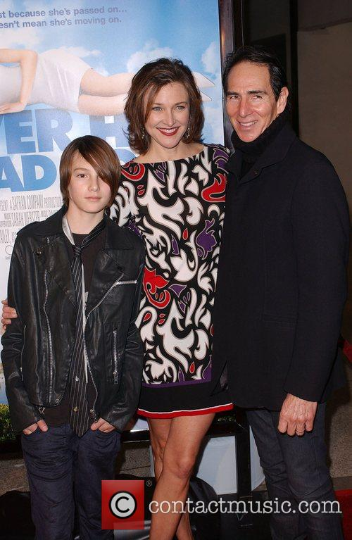 Brenda Strong with her family Los Angeles film...