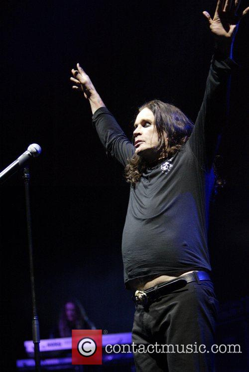 Ozzy Osbourne, his band performing live in concert at Acer Arena, Acer Arena