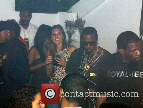 Sean Combs aka P Diddy and his entourage...
